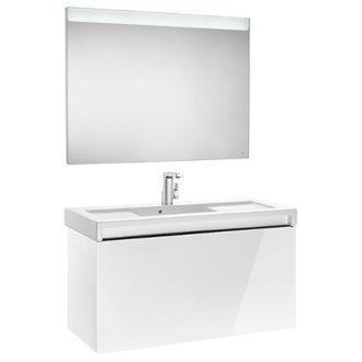 Pack meuble avec plan vasque blanc 110 cm Stratum-N Roca