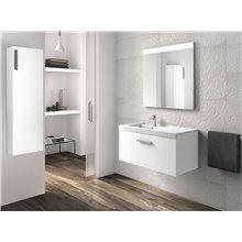 Meuble avec plan vasque un tiroir blanc Prisma Roca