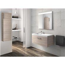 Pack meuble avec plan vasque un tiroir 90 cm frêne Prisma Roca