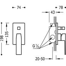 Robinet encastré à 2 voies Blanc Mat SLIM TRES