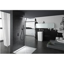 Ensemble de douche encastré Noir mat Suède Imex