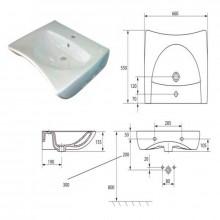 Lavabo ergonomique mobilité réduite Timblau