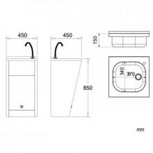 Fontaine à eau enregistrable électronique en acier NOFER
