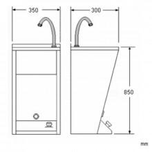Fontaine à eau enregistrable en acier Mini NOFER