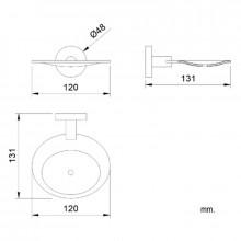 Porte-savon circulaire en laiton chromé Sienne NOFER