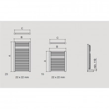 Sèche-serviettes hydraulique Alcoy Salgar