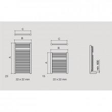 Sèche-serviettes électrique Alcoy Salgar
