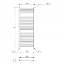 Sèche-serviettes radiateur Talia WF 100 Ferroli