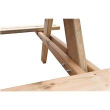 Table pique-nique en bois 177x151x77cm Solid...