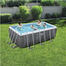 Piscine 412x201 cm Power Steel rectangulaire...