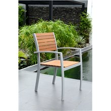 Chaise en aluminium et bois Bergamo Chillvert