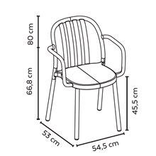 Lot de 2 chaises sable avec accoudoirs Resol