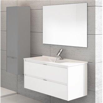 Meuble avec plan vasque blanc brillant Ibiza 60 TEGLER