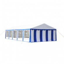 vidaXL Tente de réception 10 x 5 m Bleu
