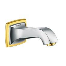 Bec pour baignoire 158 mm chrome et or Metropol Classic Hansgrohe