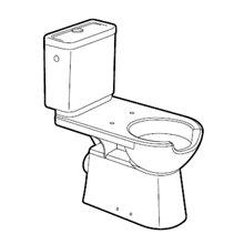 WC réservoir bas sortie horizontale Access ROCA