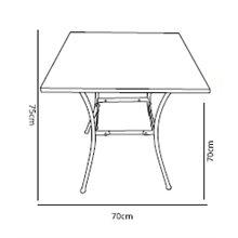 Table carrée mosaïque PAROS de Resol