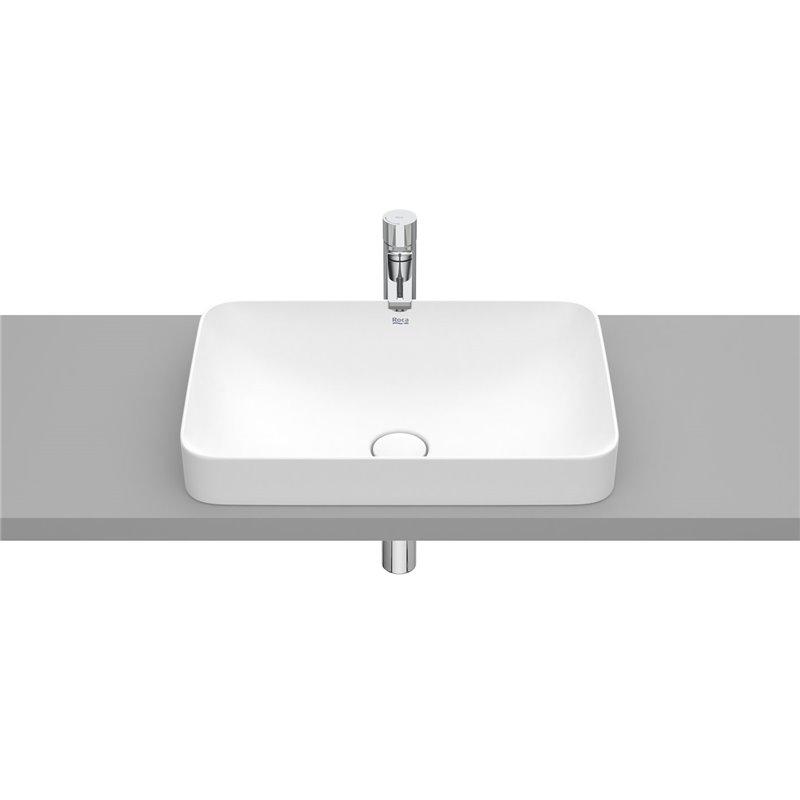 Vasque encastrée Blanc mat 55 cm x 37 cm Inspira Square Roca