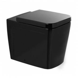 WC Advance noir au sol réservoir haut ou encastré Sanindusa