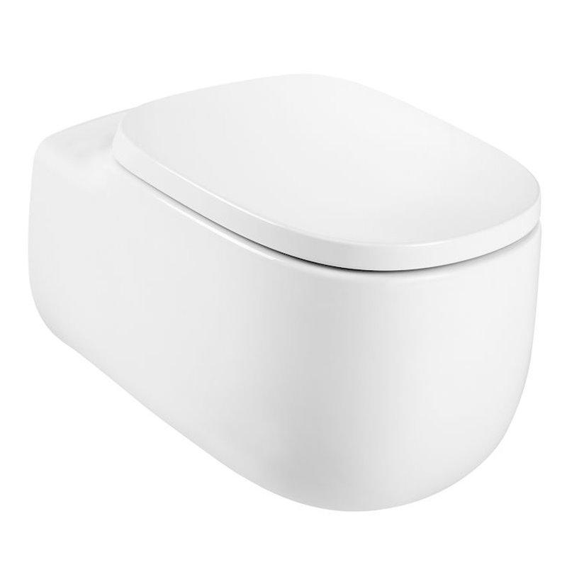 WC Rimless suspendu blanc mate Beyond Roca de 58 cm