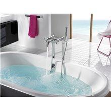 Robinet de baignoire-douche mélangeur manuel de sol Loft Roca
