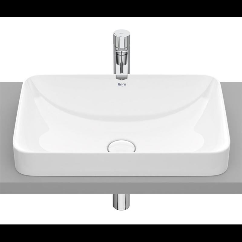 Vasque encastrée Inspira Blanc Square 55 x 37 Roca
