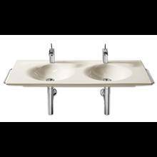 Plan vasque double mural ou à poser Kalahari 120 cm Roca