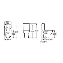 WC réservoir bas sortie verticale Access ROCA