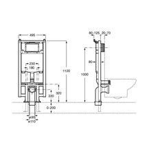 Bâti-support avec réservoir Duplo WC Compact Roca