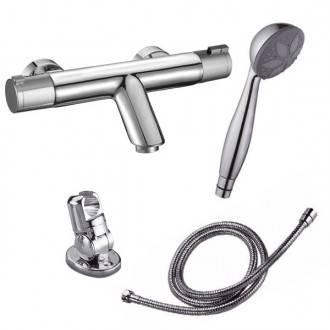 Robinet thermostatique de baignorie Nine avec kit de douche
