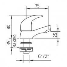 Robinet simple pour lavabo