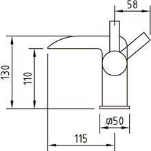 Robinet cascade pour lavabo Bimini