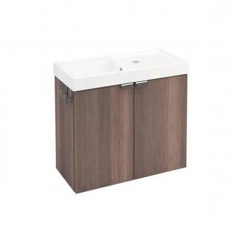 Meuble avec 2 portes 50 cm Frêne B-Box Bath+