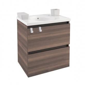 Meuble avec plan vasque en porcelaine 60 cm Frêne B-Box Bath+