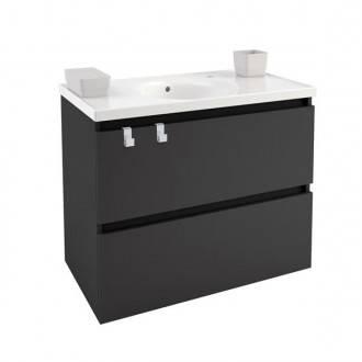 Meuble avec plan vasque en porcelaine 80 cm Anthracite B-Box Bath+