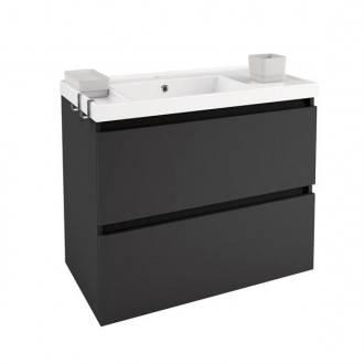 Meuble avec plan vasque en résine 80 cm Anthracite B-Box Bath+