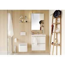 Meuble avec plan vasque en résine 80 cm Chêne nature B-Box Bath+