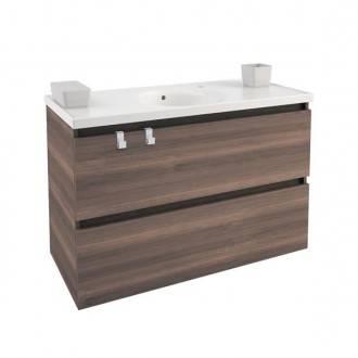 Meuble avec plan vasque en porcelaine 100 cm Frêne B-Box Bath+
