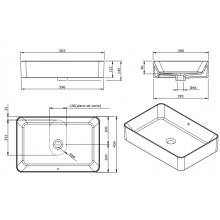Vasque à poser rectangulaire Sanlife 60 x 40...