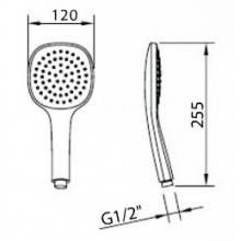 Pommeau de douche Style Air 12x12 Clever