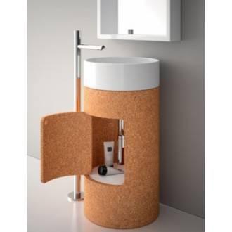 Lavabo Round 45 avec meuble-colonne Sanindusa