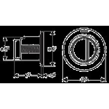 Plaque de chasse Geberit01 Chrome Brillant réservoir 12 cm
