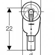 Siphon encastré pour lave-linge/lave-vaisselle
