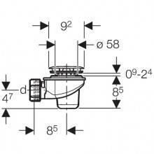 Siphon pour receveur de douche Ø60mm