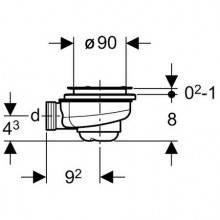 Siphon pour receveur de douche Ø90mm