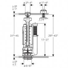 Mécanisme de chasse d'eau 290 Geberit