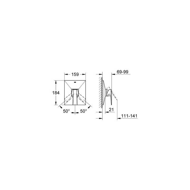 robinet mitigeur de douche grohe allue brillinat 19789000. Black Bedroom Furniture Sets. Home Design Ideas