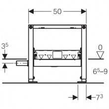 Bâti-support Duofix 50 cm avec siphon de douche...
