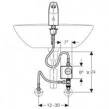 Robinet électronique écologique Geberit186 c/ mitigeur