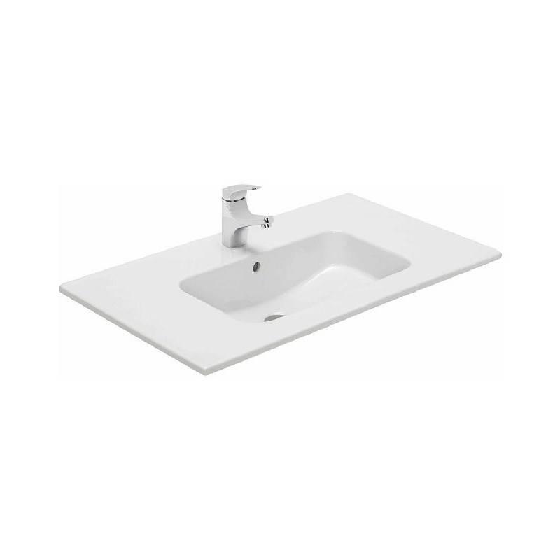 vasque avec trop plein int gr Vasque avec plan intégré Gala Smile 61 x 46 x 1,5 cm.